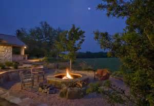 fire pit traditional landscape austin by rick o