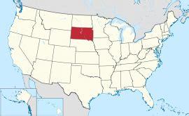 Usa Map South Dakota by South Dakota Wikipedia