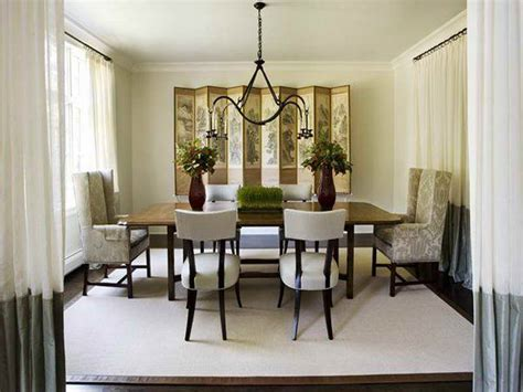 Dining Room Drapery Ideas by Indoor Formal Dining Room Decorating Ideas With White