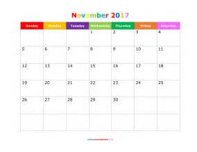 november 2017 calendar cute weekly calendar template