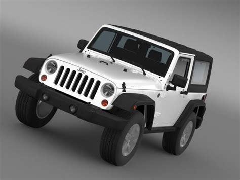 2007 jeep wrangler models jeep wrangler rubicon 2007 3d model max obj 3ds fbx c4d