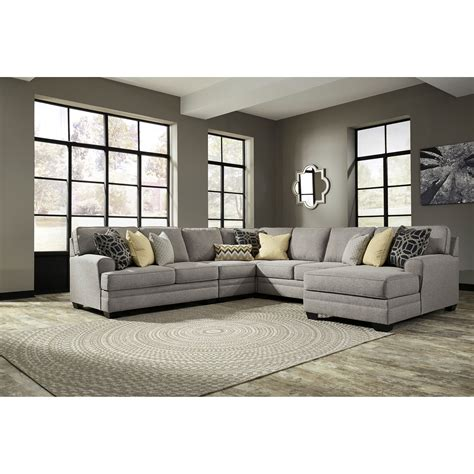 5 piece sectional sofa with chaise benchcraft cresson 5 piece sectional with chaise