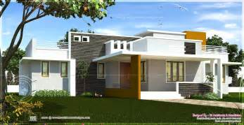 Single Floor Modern House Plans by Single Floor Contemporary House Design Kerala Home