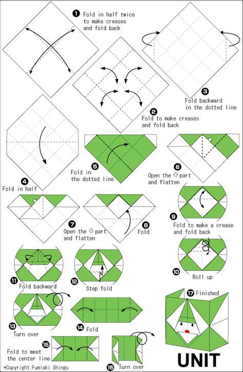 Unit Polyhedron Origami - origami rabbit cube