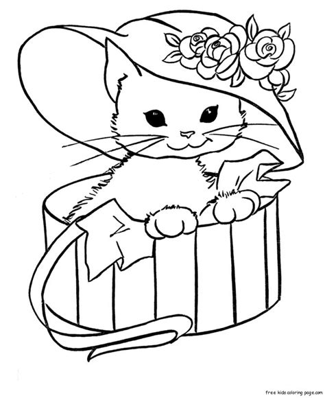 cute cat coloring pages az coloring pages