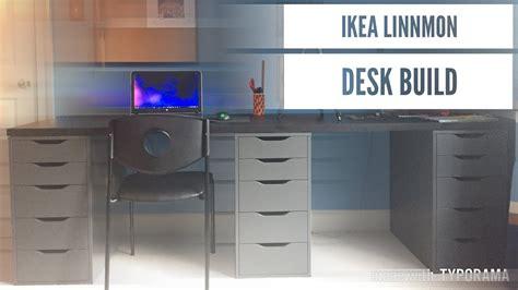 ikea build a desk ikea linnmon desk build dual desk