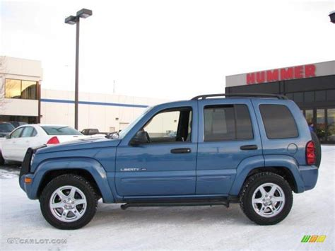 light blue jeep liberty 2003 liberty limited 4x4 light khaki metallic dark slate