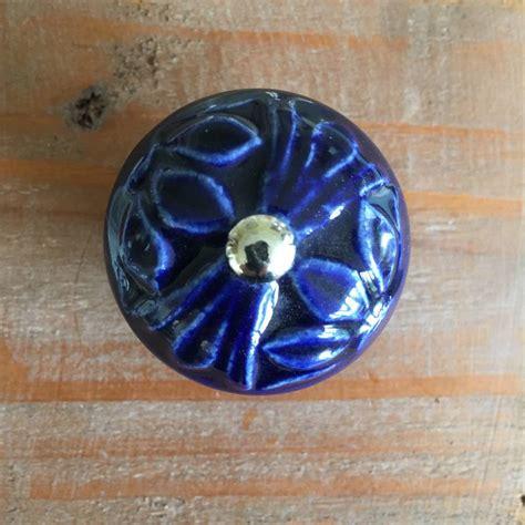 Blue Ceramic Knobs by Royal Blue Ceramic Drawer Knob By Grey Interiors
