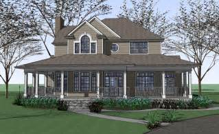 Wraparound Porch by Country Farmhouse With Wrap Around Porch Plan Maverick