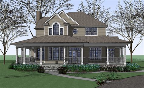 country farmhouse with wrap around porch plan maverick