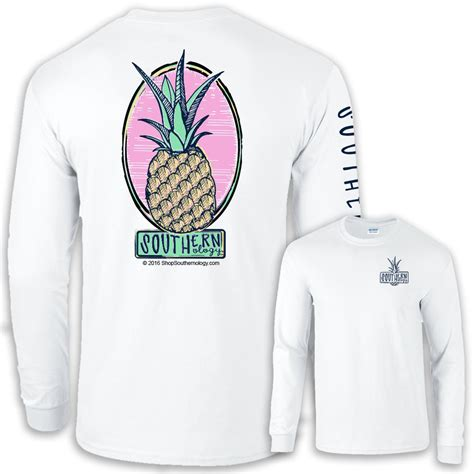 Sleeve Pineapple T Shirt white sleeve southernology pineapple t shirt