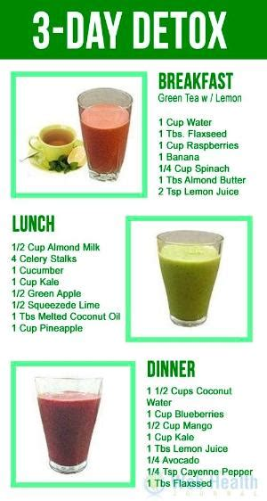 3 Day Detox Plan by Tea Diet For Your Detox Day