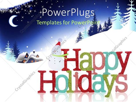 powerpoint templates holiday powerpoint template colorful happy holidays sign and