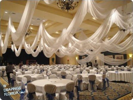 ceiling draping wedding w drapings florida ceiling drapings and wedding chiffon