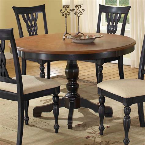 black dining table with wood top collections