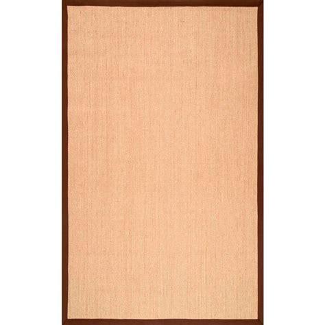 nuloom orsay sisal brown 4 ft x 6 ft area rug zhss01e