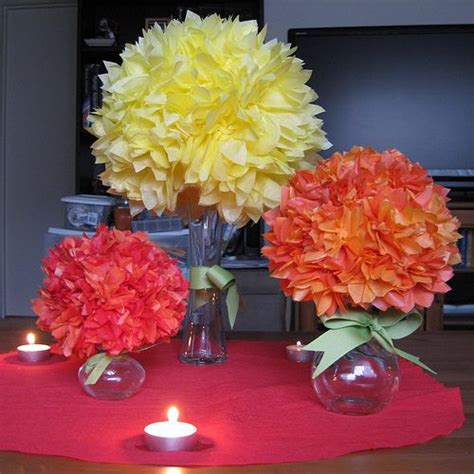 How To Make Tissue Paper Flower Centerpieces - tissue paper centerpieces wed event paper fabric
