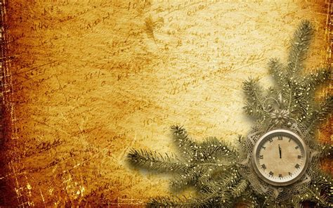 new year background gold words background gold branch spruce watches at midnight