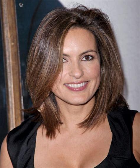 22 flattering hairstyles for round faces medium straight best 25 medium brunette hairstyles ideas on pinterest