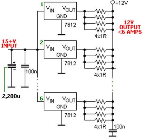 adding a resistor in series with a load will cause hobby electronics high current voltage regulation