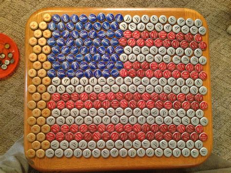 Bottle Cap Table Top by Bottle Cap Table Top Crafty Things