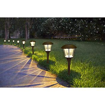 10 lumen solar lights berkley 10 lumen solar path light 8 pk bronze