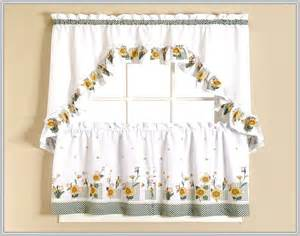 Kitchen Curtains And Valances Ideas sunflower kitchen curtains valances home design ideas