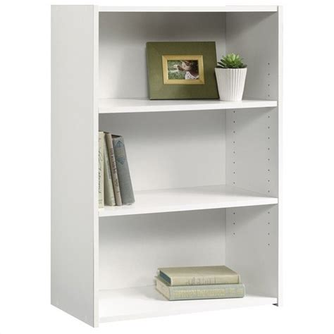 Sauder White Bookcase Features