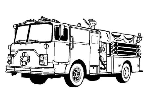 red fire truck cars coloring page מכבי אש דפי צביעה משאיות