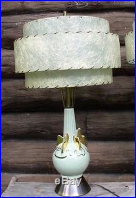 mid century l shades vintage pair ceramic table ls 3 tier fiberglass shades