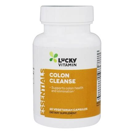 Colon Detox Vitamin C Flush by Buy Luckyvitamin Colon Cleanse 60 Vegetarian Capsules