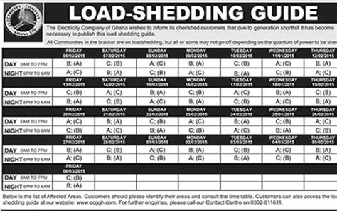 Letter About Load Shedding by Check The New Dumsor League Table Here