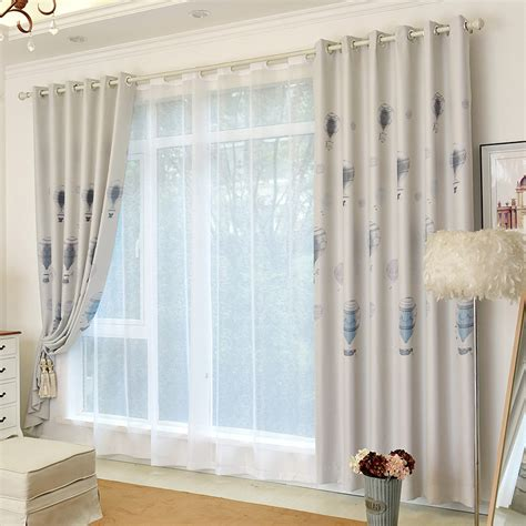 grey kids curtains modern gray balloon duplex printed blackout curtains for
