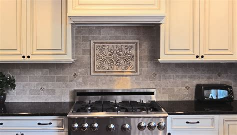 kitchen backsplash medallion decorative tile inserts kitchen backsplash besto