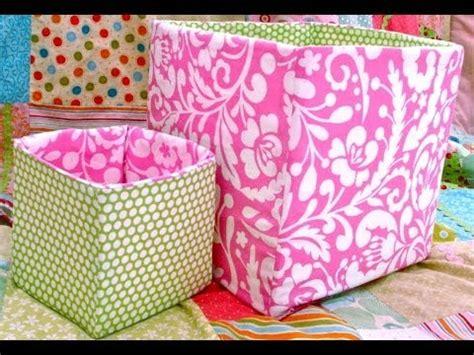 sew  fabric box bin youtube