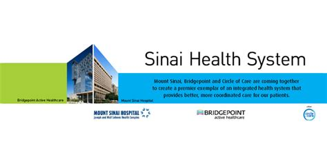 mount sinai hospital bridgepoint active healthcare and