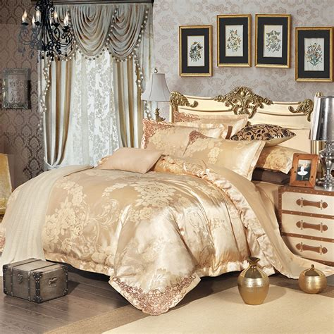 bed sheet sets queen 2016 new 100 cotton luxury embroidery satin jacquard