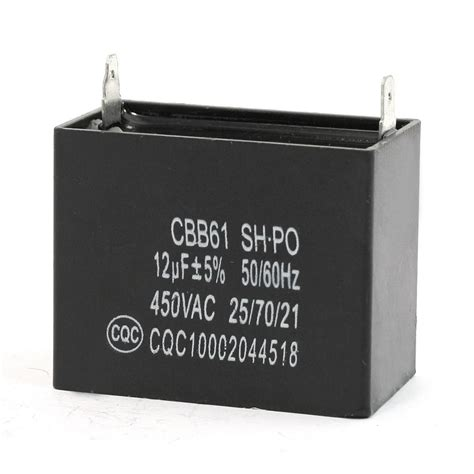 what size ac capacitor ac 450v 12uf 2 terminals air conditioner motor capacitor black cbb61 f8w3 ebay