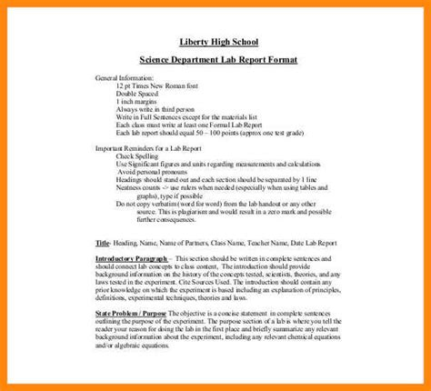 physics lab report template 7 lab reports format reporter resume