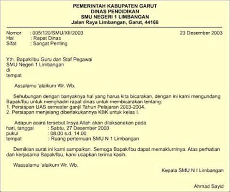 sastra dan bahasa indonesia macam macam surat dinas
