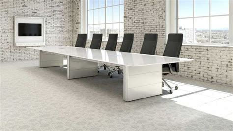 Large White Meeting Table White Conference Tables