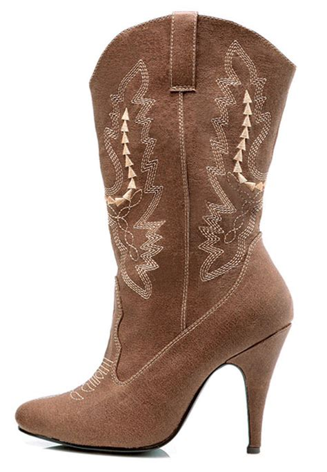 cowboy high heel boots brown boots costume craze