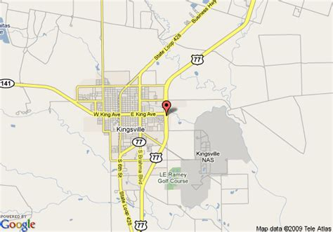 map of kingsville texas map of econo lodge kingsville kingsville