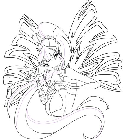 winx club flora sirenix coloring pages