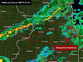 Weather Radar Nascar At Chicagoland Speedway 2013 Weather Forecast