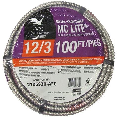 100 12 2 mc cable southwire 100 ft 12 3 solid armorlite mc cable 68583423