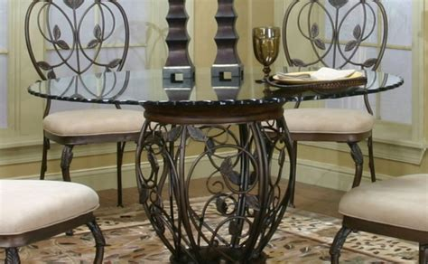 Pedestal 48 Round Glass Dining Table Set 48 Dining Table Set