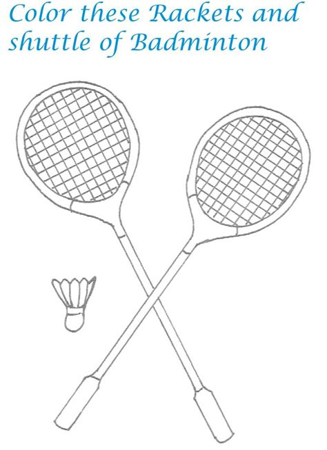 badminton printable coloring pages
