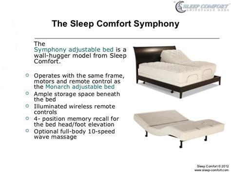 symphony adjustable bed  sleep comfort