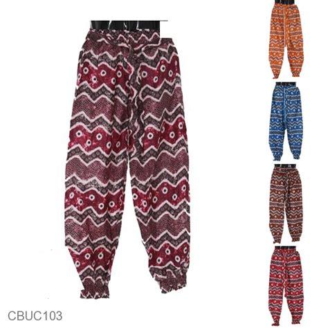 Celana Kulot Panjang Katun Murah B30417005mot3bru Bawahan Batik baju batik celana aladin katun motif jumbutan kabut